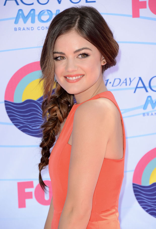 Lucy Hale in Wes Gordon