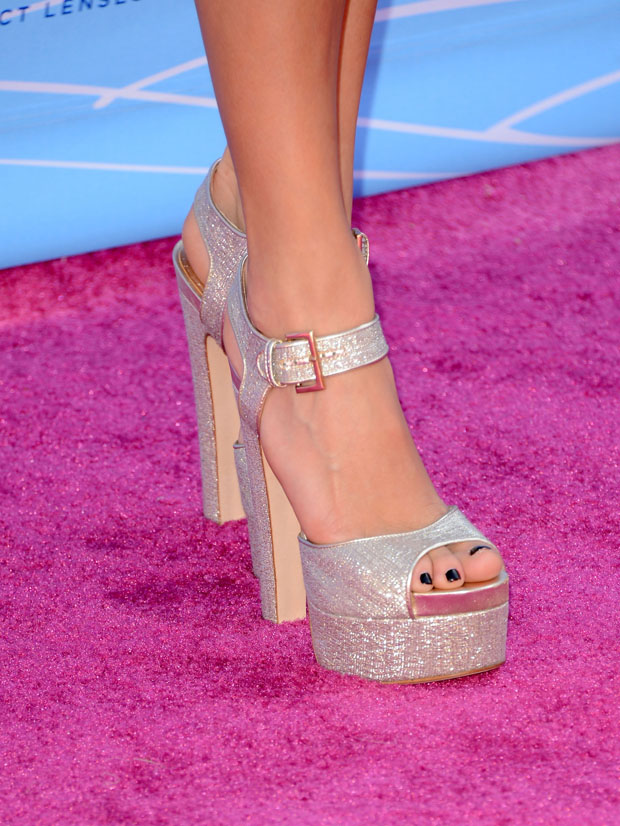 Nikki Reed's Brian Atwood shoes