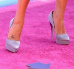Lea Michele's Versace shoes