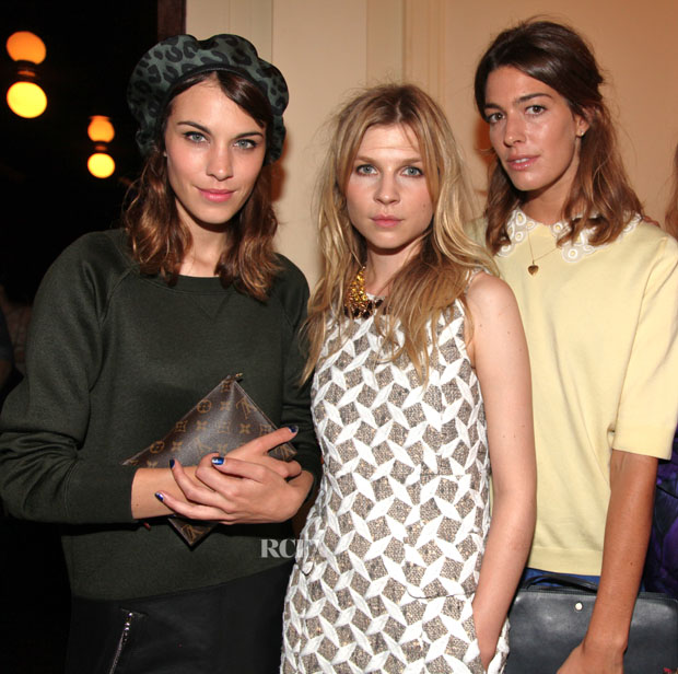 Photo of Clémence Poésy & her friend  Alexa Chung -