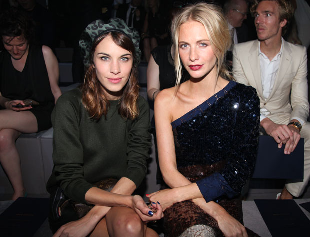 Alexa Chung and Poppy Delevingne in Louis Vuitton