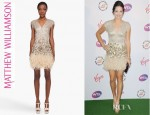 Ana Ivanovic's Matthew Williamson Lace Feathered Dress
