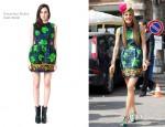 Anna Dello Russo In Caterina Gatta - Milan Menswear Fashion Week