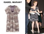 Anna Paquin's Isabel Marant Nesto Printed Silk Georgette Dress