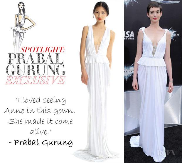 Anne Hathaway Gown: Anne Hathaway's Prabal Gurung Gown On ModaOperandi