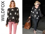 Ashlee Simpson Wentz' Wildfox Couture Lennon Seeing Stars Sweater