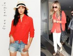 Ashley Tisdale's Free People Stavros Button Down Shirt