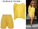 Beyonce Knowles' Surface to Air Tribune Tee And Savana High-Waisted Cotton Shorts
