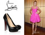 Blake Lively's Christian Louboutin Alti Spiked Patent Leather Pumps