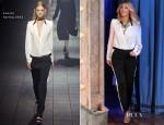 Blake Lively In Lanvin - Late Night with Jimmy Fallon