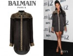 Brandy Norwood's Balmain Embroidered Tunic