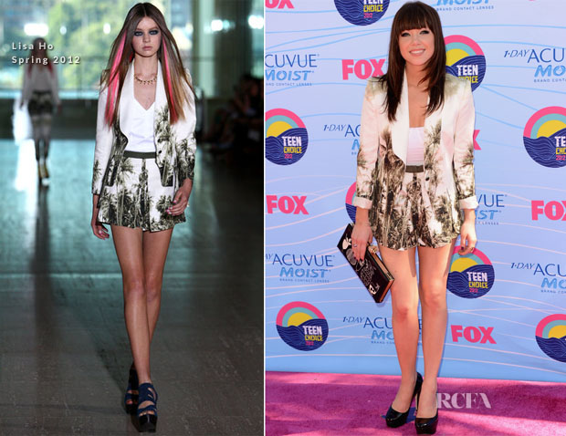 Carly Rae Jepsen In Lisa Ho - 2012 Teen Choice Awards