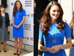 Catherine, Duchess of Cambridge In Stella McCartney - 'Road to 2012: Aiming High' Exhibition Opening