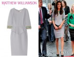 Catherine, Duchess of Cambridge's Matthew Williamson Embellished Wool Crepe Peplum Dress