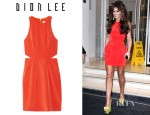 Cheryl Cole's Dion Lee Silk Form External Pleat Dress
