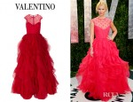 Claire Danes' Valentino Lace And Ruffled Silk Organza Gown