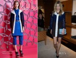 Clemence Poesy In Louis Vuitton - Louis Vuitton Shanghai Flagship Store Opening