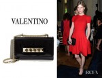 Clemence Poesy's Valentino VaVa-Voom Flap Bag