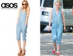 Dakota Fanning's ASOS Cropped Chambray Denim Boilersuit