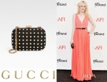 Dakota Fanning's Gucci Broadway Studded Clutch