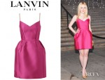 Dakota Fanning's Lanvin Duchess Darting Detail Dress