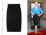 Deborah Ann Woll's Stella McCartney Alyssa Wool Twill Pencil Skirt