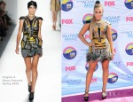 Demi Lovato In Falguni & Shane Peacock - 2012 Teen Choice Awards