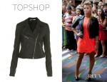 Demi Lovato's Topshop Leather Biker Jacket