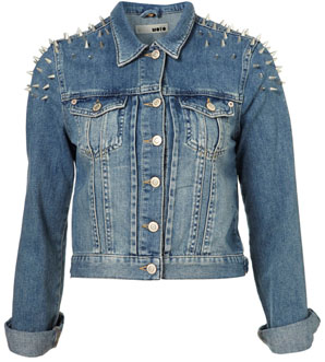 Demi Lovato's Topshop Lace Corset Flippy Tunic Dress And Topshop Moto Shoulder Spike Denim Jacket1