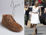 Diane Kruger's Joie 'Eye of the Tiger' Lace Up Moccasin Flat Booties