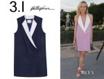 Diane Kruger's 3.1 Phillip Lim Sleeveless Tuxedo Dress