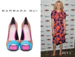 Elizabeth Banks' Barbara Bui Suede Colourblock Pumps