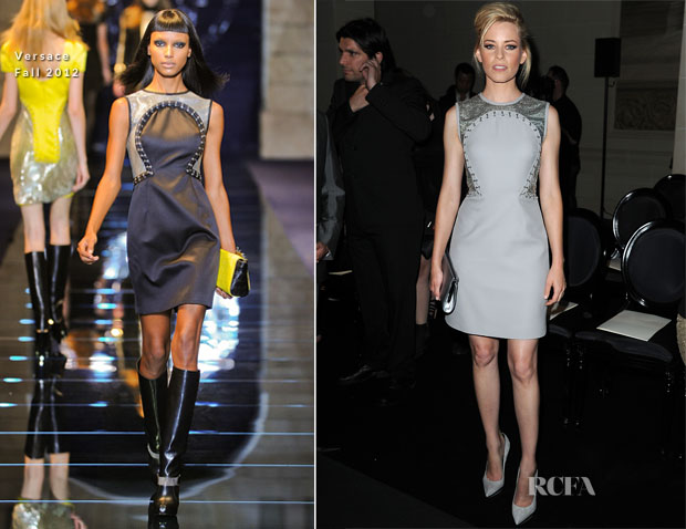 Elizabeth Banks In Versace - Atelier Versace Fall 2012 Fashion Show