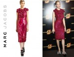 Elizabeth Banks' Marc Jacobs Sequin Flower Dress