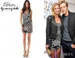 Emily VanCamp's Torn by Ronny Kobo  Sammy Tribal Knit Dress