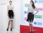 Emmy Rossum In Zuhair Murad - CW, CBS And Showtime 2012 Summer TCA Party