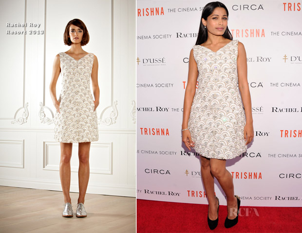 Freida Pinto In Rachel Roy - 'Trishna' New York Screening