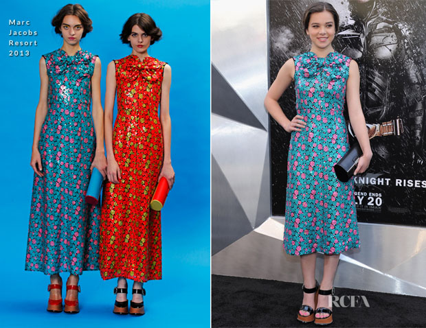 Hailee Steinfeld In Marc Jacobs – 'The Dark Knight Rises' New York Premiere