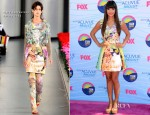 Hannah Simone In Mary Katrantzou - 2012 Teen Choice Awards