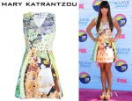 Hannah Simone's Mary Katrantzou Balalaika Dress