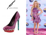 Hayden Panettiere's B Brian Atwood Fontanne Pumps