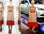 Jaime King In Giambattista Valli - Lexus 'Laws of Attraction' Exhibition