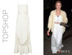Jaime King's Topshop Lace Panel Maxi Dress