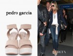 Jennifer Aniston's Pedro Garcia Beige Temple Wep Wedges