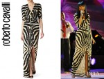 Jennifer Hudson's Roberto Cavalli Animal Print Maxi Dress
