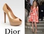 Jennifer Lawrence's Dior Miss Dior Patent Leather Peep Toe Pumps