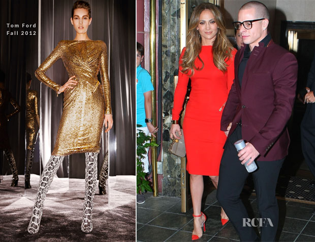 af620d59236 Jennifer Lopez In Tom Ford - Birthday Celebrations - Red Carpet ...