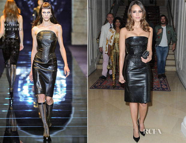 Jessica Alba In Versace - Atelier Versace Fall 2012 Fashion Show