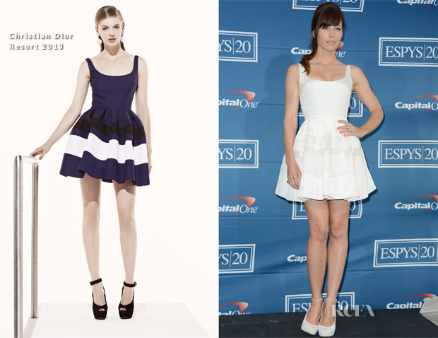 Jessica Biel In Christian Dior - 2012 ESPY Awards