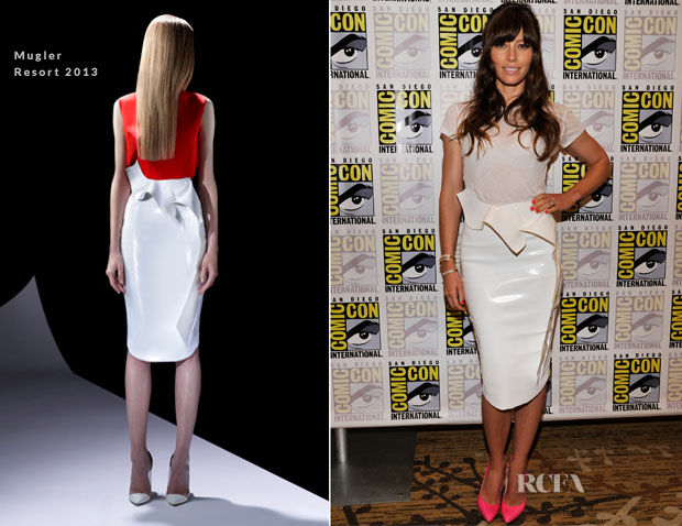 Jessica Biel In Mugler - 'Total Recall' Panel Comic Con 2012